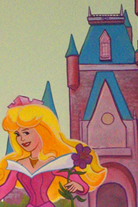 Mural of a Princess and her castle for a Children's Bedroom